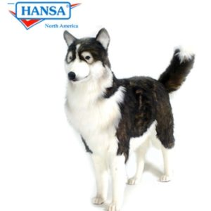 Hansa Stuffed Animal Life Size Husky Dog