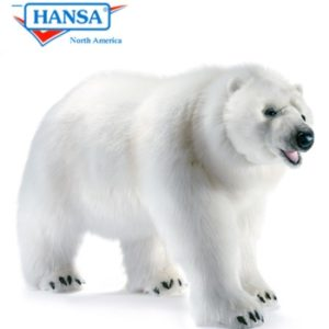 Hansa Polar Bear Walking Stufed Animal Life Size