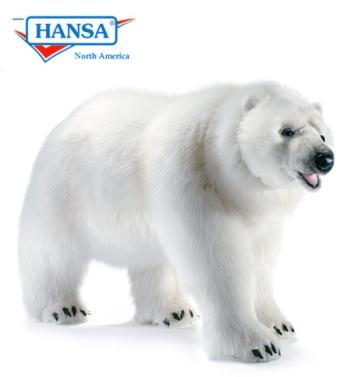 Hansa Polar Bear Walking Stufed Animal Life Size