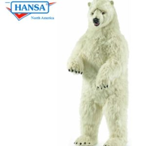 Hansa Life Size Polar Bear Standing Upright