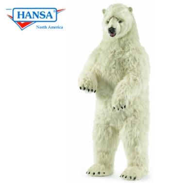 Hansa Life Size Polar Bear Standing Upright